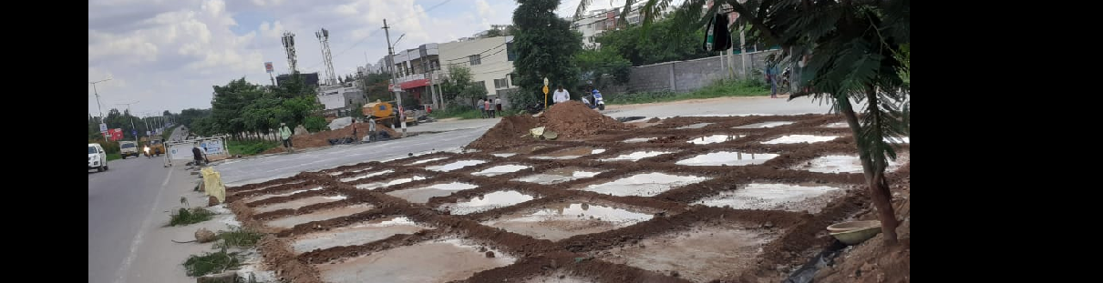 Laying Of CC Roads at Dulapally X Roads for  Junction Development